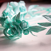 """Украшения ручной работы. Ярмарка Мастеров - ручная работа Венок на голову """"Мятный"""" с цветами. Handmade."""