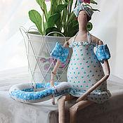 Куклы и игрушки ручной работы. Ярмарка Мастеров - ручная работа тильда купальщица. Handmade.