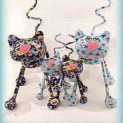 Куклы и игрушки ручной работы. Ярмарка Мастеров - ручная работа Дружное кошачье семейство  :). Handmade.