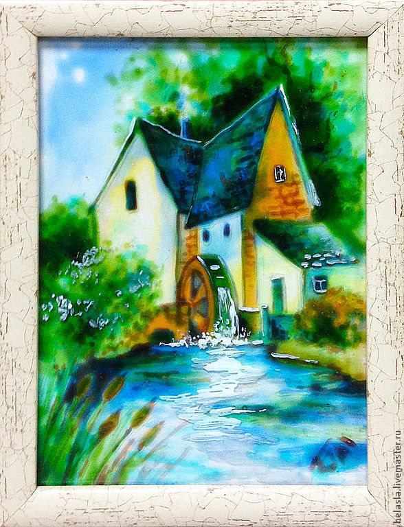 Fabulous little mill, stained glass painting, Pictures, Moscow,  Фото №1