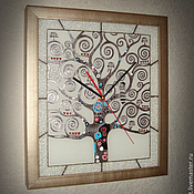 """Для дома и интерьера ручной работы. Ярмарка Мастеров - ручная работа Часы """"Древо жизни"""" серебро. Handmade."""
