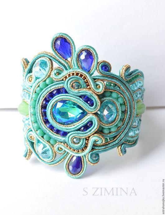 Сутажный браслет  . Ярмарка Мастеров - ручная работа. Купить сутажный браслет   мятный. Handmade. Мятный сутажный браслет.