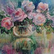 """Картины и панно ручной работы. Ярмарка Мастеров - ручная работа картина акварелью """"Розовый букетик"""". Handmade."""