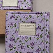 Канцелярские товары handmade. Livemaster - original item Album for a herbarium Lilac spring (A4, 30 plants). Handmade.
