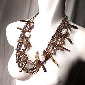 Украшения handmade. Livemaster - original item Choker transformer. Brown corals. Handmade.
