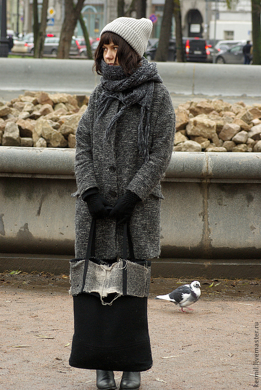 Женские сумки ручной работы. Ярмарка Мастеров - ручная работа. Купить Сумка - авоська войлочная XL. Handmade. Черный
