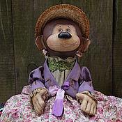 Куклы и игрушки ручной работы. Ярмарка Мастеров - ручная работа Обезьянка в шляпке 2. Handmade.
