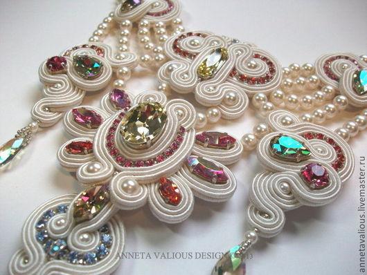 Колье, бусы ручной работы. Ярмарка Мастеров - ручная работа. Купить Lakshmi's Gift - Bead Dreams 2013. Handmade. красный