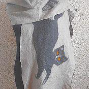 """Аксессуары ручной работы. Ярмарка Мастеров - ручная работа Шарф """"Две кошки"""" нуновойлок. Handmade."""