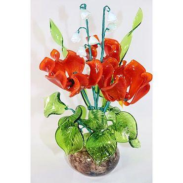 Цветы и флористика ручной работы. Ярмарка Мастеров - ручная работа Букет Цикламен, Ландыши. Handmade.