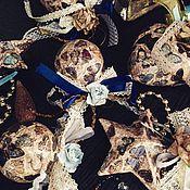 Подарки к праздникам ручной работы. Ярмарка Мастеров - ручная работа Елочные украшения в порхающих бабочках, декопатч. Handmade.