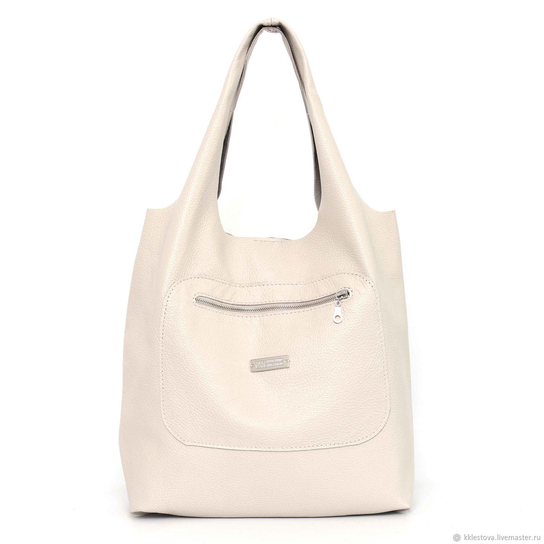 Beige Satchel Bag Medium Leather Per T Shirt Milk заказать на Ярмарке Мастеров J1wcbcom Сумки Moscow