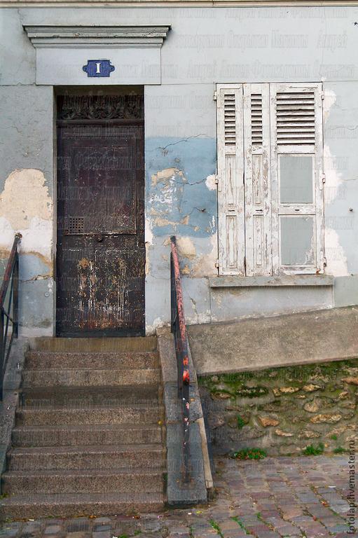 """Фотокартина """"Париж. Дверь на Монмартре"""", Фотокартины, Москва,  Фото №1"""