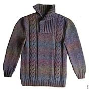 Свитеры ручной работы. Ярмарка Мастеров - ручная работа Очень теплый вязаный свитер 101. Handmade.