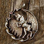 """Украшения ручной работы. Ярмарка Мастеров - ручная работа Кулон """"Unicorn"""" из светлого серебра. Handmade."""