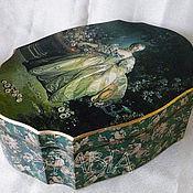 """Для дома и интерьера ручной работы. Ярмарка Мастеров - ручная работа Шкатулка """" Мадам Помпадур в саду"""". Handmade."""
