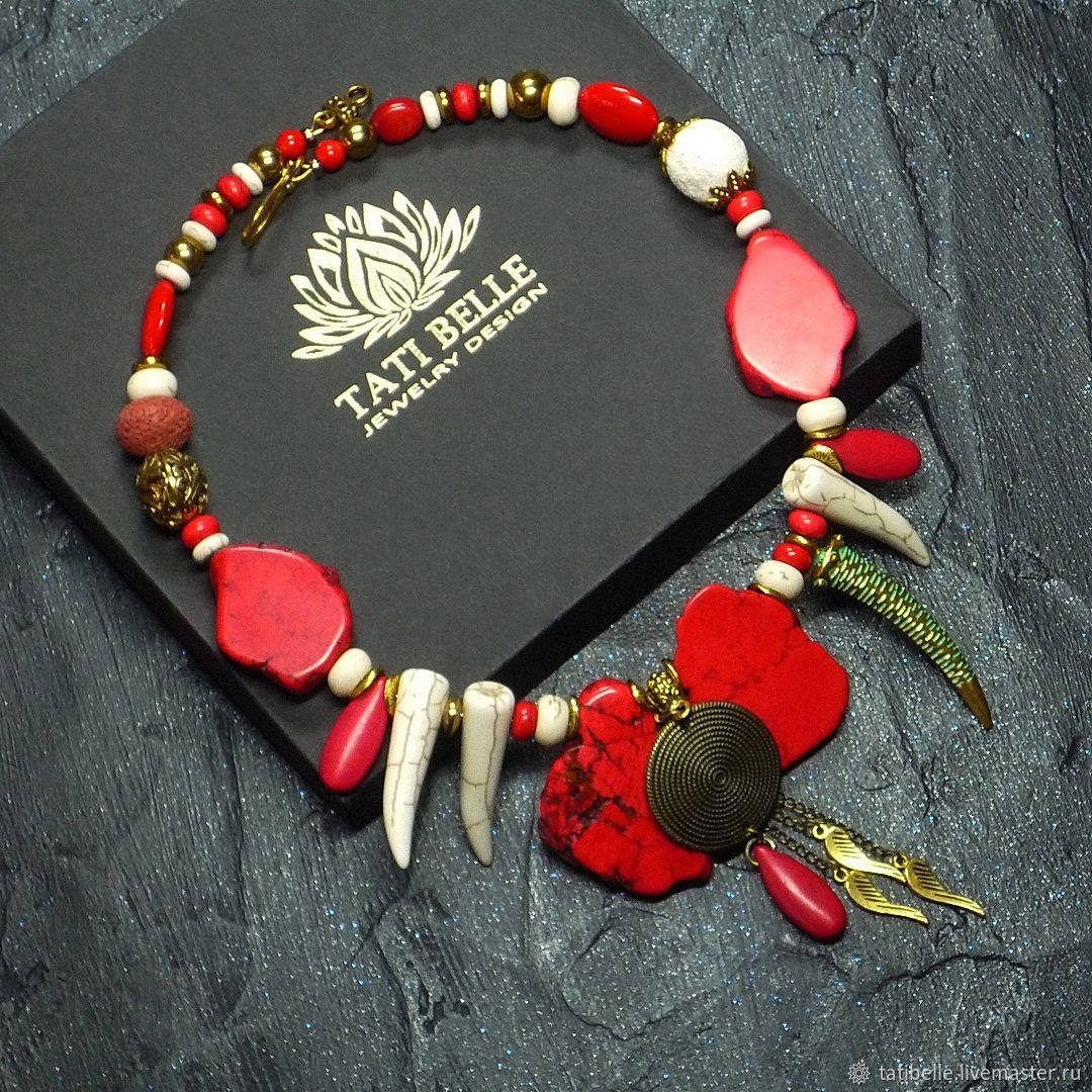 Necklace made of natural stones ' Huntress', Necklace, Moscow,  Фото №1
