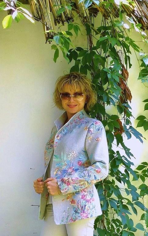 Пиджаки, жакеты ручной работы. Ярмарка Мастеров - ручная работа. Купить Жакет валяный из  мериносовой шерсти Амели. Handmade.