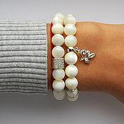 Украшения handmade. Livemaster - original item Creamy mother of pearl. Handmade.