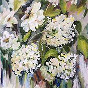 Картины и панно ручной работы. Ярмарка Мастеров - ручная работа Белое море цветов. Handmade.