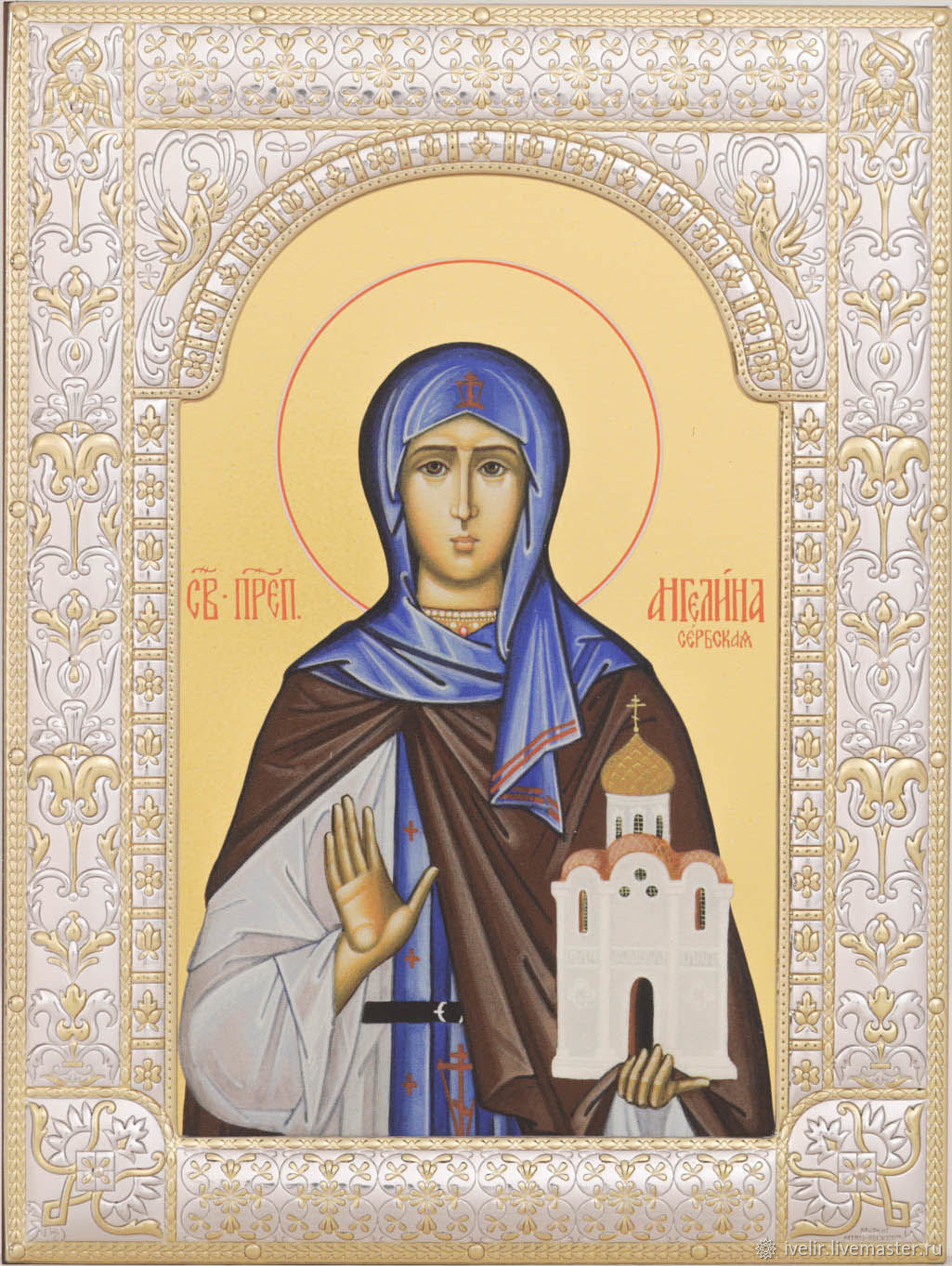 Blessed angelina of Serbia (18h24cm), Icons, Moscow,  Фото №1