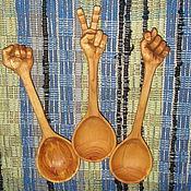 """Для дома и интерьера ручной работы. Ярмарка Мастеров - ручная работа набор деревянных ложек """"Жесты"""". Handmade."""