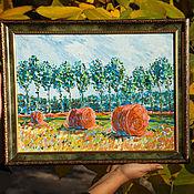 Картины и панно handmade. Livemaster - original item Top of the summer interior oil painting impressionism. Handmade.