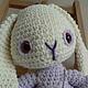 Игрушки животные, ручной работы. Белый кролик Лили. НаталИ                 (Добрый Кот). Ярмарка Мастеров. Интерьерная игрушка, стеклянные глазки