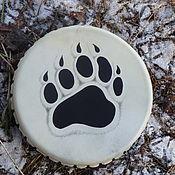 Музыкальные инструменты handmade. Livemaster - original item The bear`s paw. Drum leather. 25 cm.. Handmade.