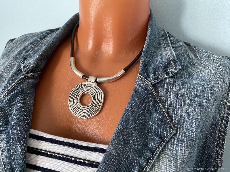 stylish pendant, large metal pendant, modern boho, Necklace, Voronezh,  Фото №1