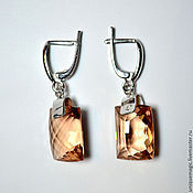 Украшения handmade. Livemaster - original item Earrings with citrine. 925 sterling silver.. Handmade.