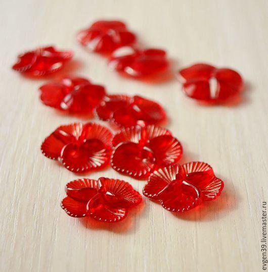 Цветы акриловые.Красные цветы.