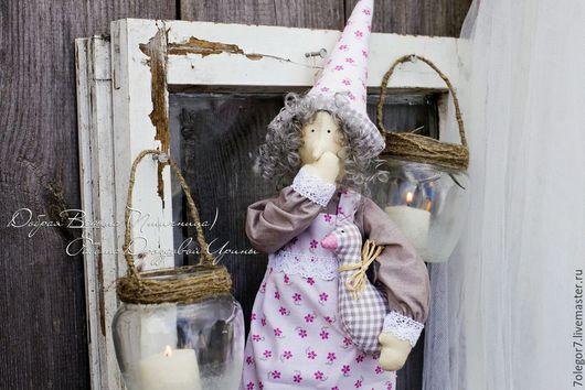 Куклы Тильды ручной работы. Ярмарка Мастеров - ручная работа. Купить Добрая Ведьма или Птичница.Интерьерная кукла в стиле Тильда.. Handmade.