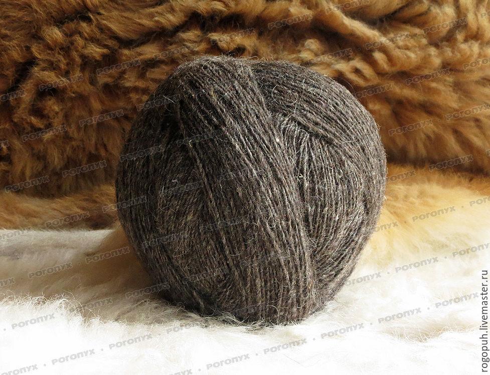 Yarns, wool, sheep-grey (1kg), Yarn, Nalchik,  Фото №1