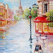 """Картины и панно ручной работы. Ярмарка Мастеров - ручная работа картина """"Эйфелева башня"""". Handmade."""