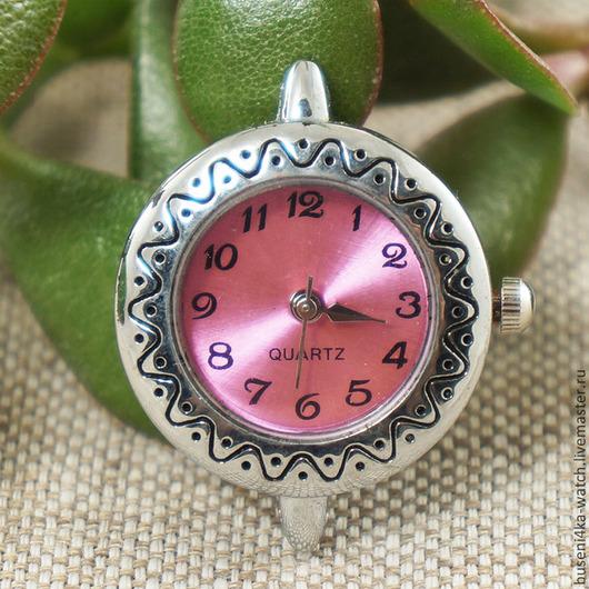 Для украшений ручной работы. Ярмарка Мастеров - ручная работа. Купить Основа для часов Змейка, розовый металлик (1шт). Handmade.