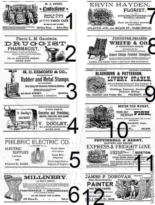 Открытки и скрапбукинг ручной работы. Ярмарка Мастеров - ручная работа. Купить Резиновые штампы Tim Holtz Cling Mounted Stamps - Adverts. Handmade.