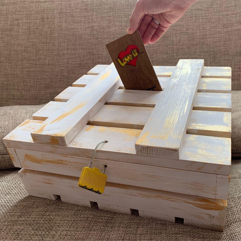 Деревянный ящик для подарков в конверте (аренда), Свадебные аксессуары, Москва,  Фото №1