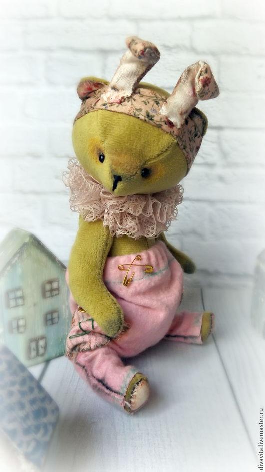 Мишки Тедди ручной работы. Ярмарка Мастеров - ручная работа. Купить Мишанька Ми. Handmade. Оливковый, мишка, медведик, хлопок