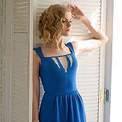 Одежда handmade. Livemaster - original item blue dress. Handmade.