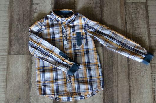 Для подростков, ручной работы. Ярмарка Мастеров - ручная работа. Купить Рубашка на мальчика с длинным рукавом. Handmade. Комбинированный