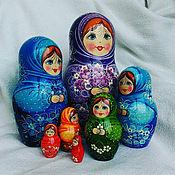 Русский стиль handmade. Livemaster - original item Matreshka 7 places rainbow. Handmade.