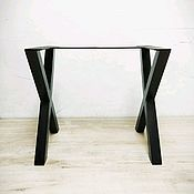 """Столы ручной работы. Ярмарка Мастеров - ручная работа Ножка """"X"""" для скамьи или журнального столика. Handmade."""