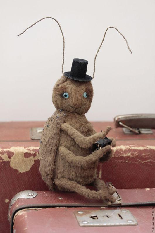 Мишки Тедди ручной работы. Ярмарка Мастеров - ручная работа. Купить Сверчок, приносящий удачу. Handmade. Коричневый, таракан