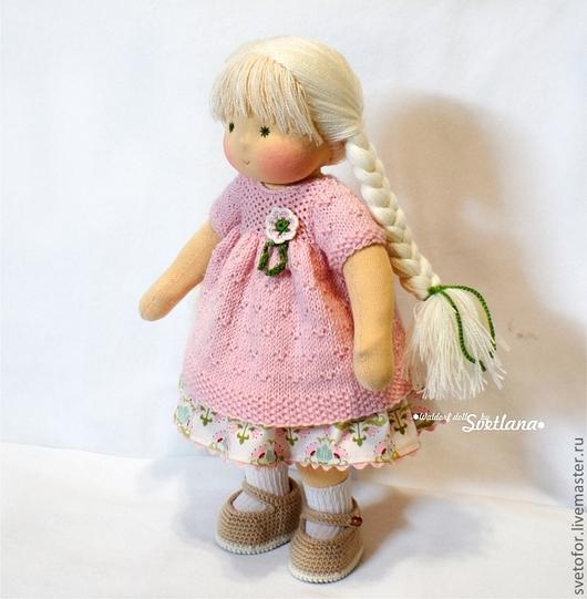 Вальдорфская игрушка ручной работы. Ярмарка Мастеров - ручная работа. Купить Снежка, 36 см. Handmade. Вальдорфская кукла, подарок