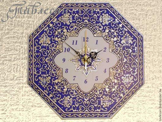 """Часы для дома ручной работы. Ярмарка Мастеров - ручная работа. Купить Часы настенные """"Арабеска"""" в восточном стиле в гостиную. Handmade."""