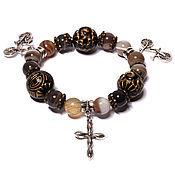 Фен-шуй и эзотерика handmade. Livemaster - original item Bracelet made of natural stones agate