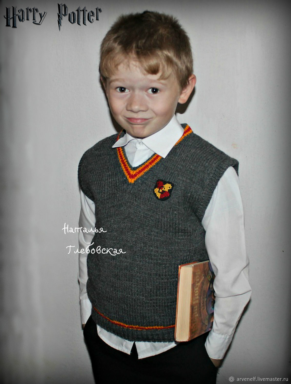 Vest 'Gryffindor', Childrens vest, Orenburg,  Фото №1