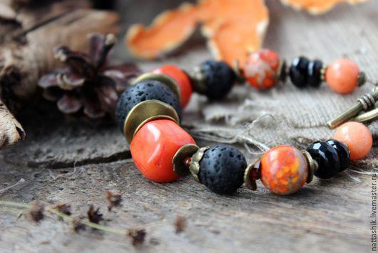 Браслеты ручной работы. Ярмарка Мастеров - ручная работа. Купить Рыжий  -браслет. Handmade. Оранжевый, серьги, осенний, лето, лес