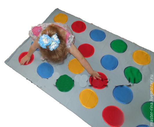Развивающие игрушки ручной работы. Ярмарка Мастеров - ручная работа. Купить Игра — коврик «Твистер» для детей. Handmade. серый